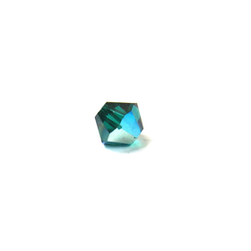 Swarovski Crystal, Bicone, 4mm - Emerald AB; 20 pcs