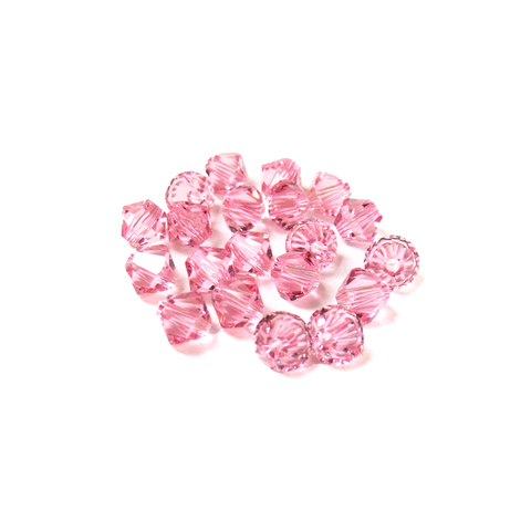 Swarovski Crystal, Bicone, 5MM - Light Rose; 20pcs