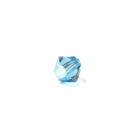 Swarovski Crystal, Bicone, 4mm - Aquamarine AB; 20 pcs