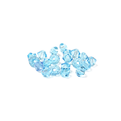 Swarovski Crystal, Bicone, 4mm - Aquamarine; 20 pcs