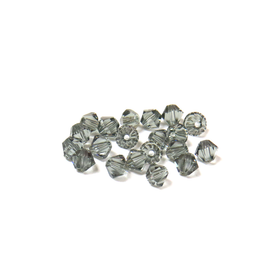 Swarovski Crystal, Bicone, 4mm - Black Diamond; 20 pcs