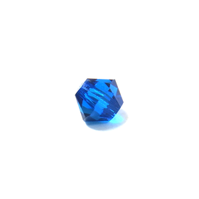 Swarovski Crystal, Bicone, 4mm - Capri Blue; 20 pcs