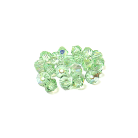 Swarovski Crystal, Bicone, 4mm - Chrysolite AB; 20 pcs