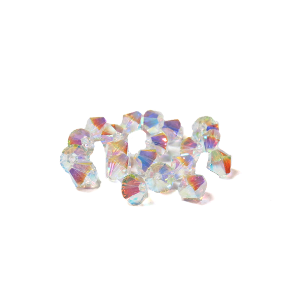 Swarovski Crystal, Bicone, 6mm - Crystal 2X; 20 pcs
