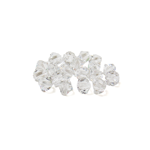 Swarovski Crystal, Bicone, 6mm - Crystal; 20 pcs