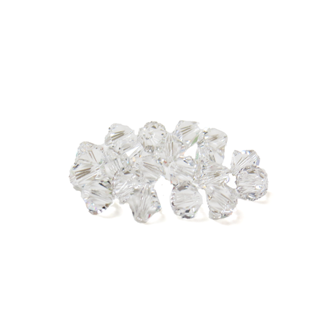 Swarovski Crystal, Bicone, 5MM - Crystal; 20 pcs