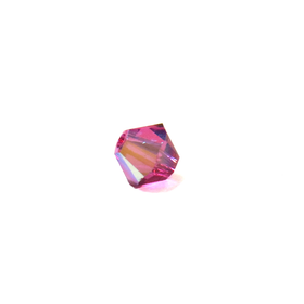 Swarovski Crystal, Bicone, 4mm - Fuschia AB; 20 pcs