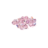 Swarovski Crystal, Bicone, 4mm - Light Amethyst AB; 20 pcs
