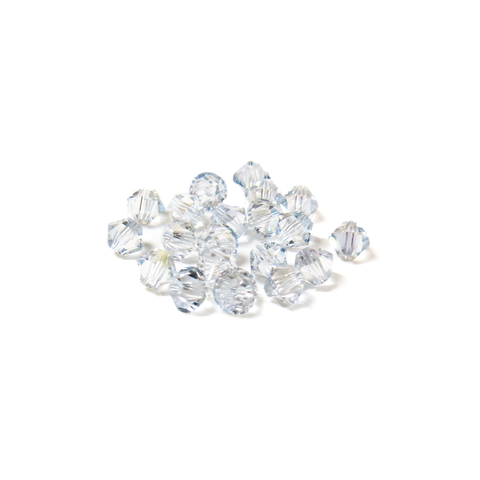 Swarovski Crystal, Bicone, 4mm - Shadow Crystal AB; 20 pcs