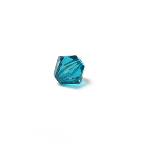 Swarovski Crystal, Bicone, 4mm - Blue Zircon; 20 pcs
