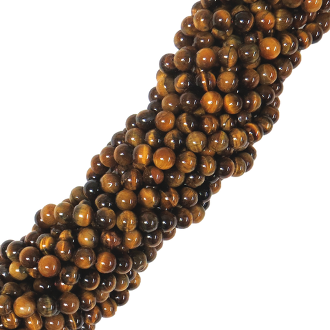 Round 8mm Brown Tiger Eye