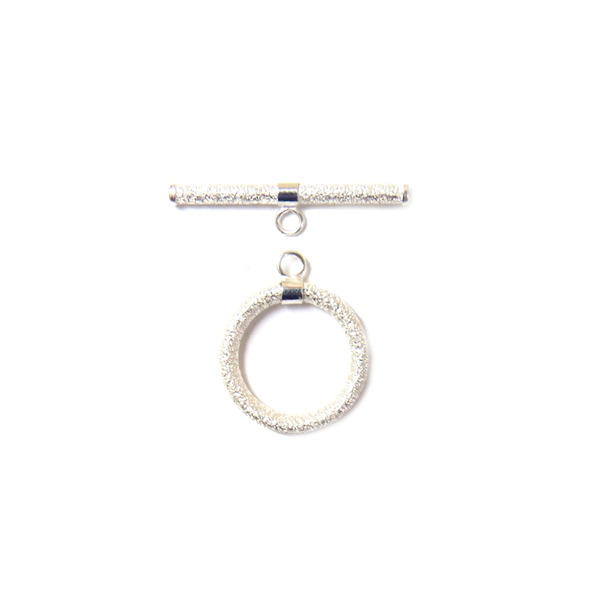 Toggle Stardust Clasp, Sterling Silver, 14mm - 1 piece