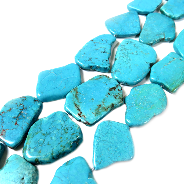 Natural Turquoise Bead, 29x17mm - 1 piece/ 1 strand