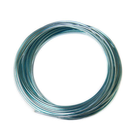 Aluminum Wire, Turquoise, 2mm, 5 yard roll; 1 roll