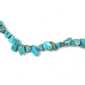 Turquoise Chips, 10x6mm, 36 inches per strand - 1 strand