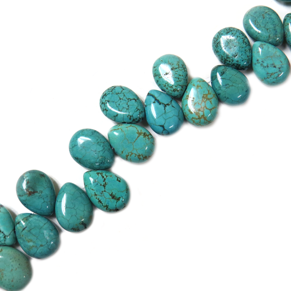 Turquoise Drop Bead Top Drilled, 18x12mm - 1 strand