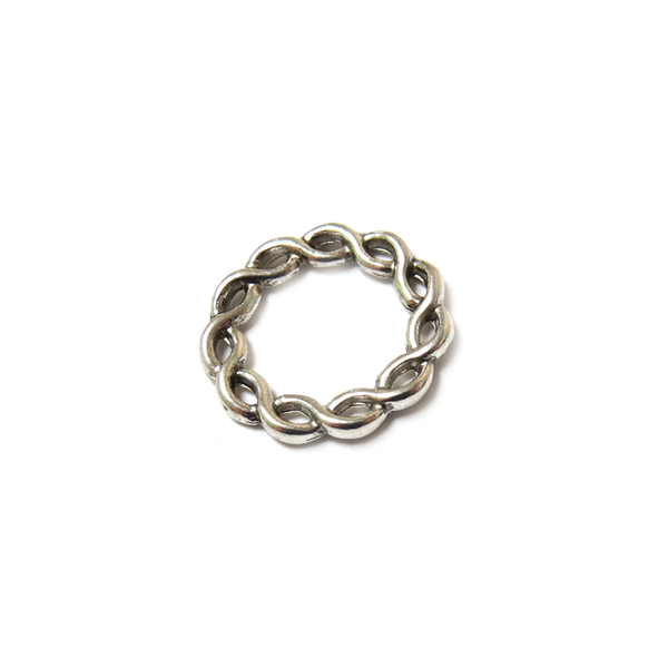 Twisted Link, Silver, 20mm - 15 pieces