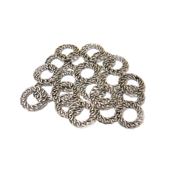 Twisted Link, Antique Silver, 22mm - 20 pieces