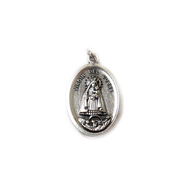 ''Caridad del Cobre'' Italian Charm, Antique Silver, 25x16mm - 1 piece