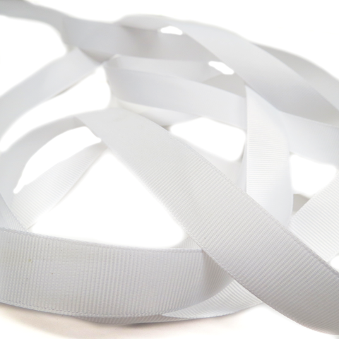 "White- Grosgrain Ribbon, 3/4""- 1 Yard"