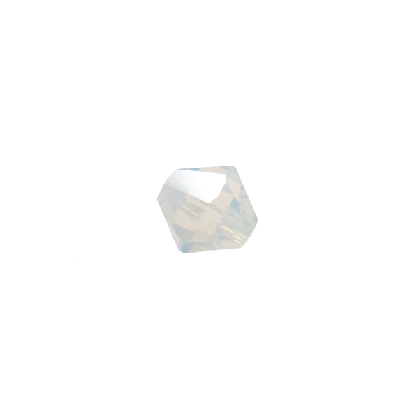 Swarovski Crystal, Bicone, 8mm - White Opal; 20 pcs