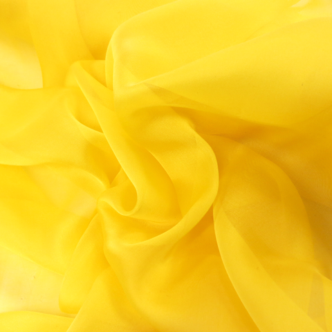 "Bright Yellow Silk Chiffon, 54""- 1 yard"