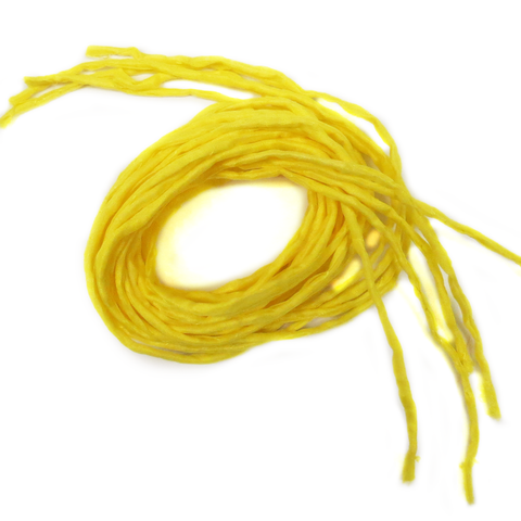 "Silk Cord, Yellow, 39"" Long; 1 piece"