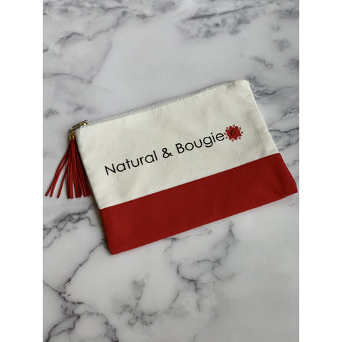 Natural + Bougie Canvas Pouch