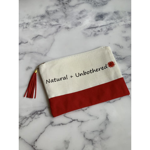 Natural + Unbothered Canvas Pouch