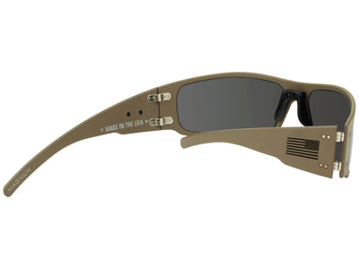 Cerakote Tan / Black Fill American Flag / Smoked Polarized Lens