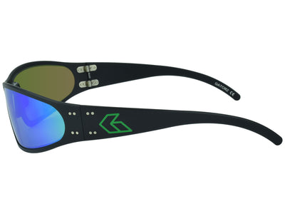 Black w/ Green Engraved G / Green Mirror Polarized