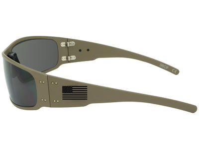 Limited Edition Cerakote Tan / Black Fill American Flag / Smoked Polarized Lens