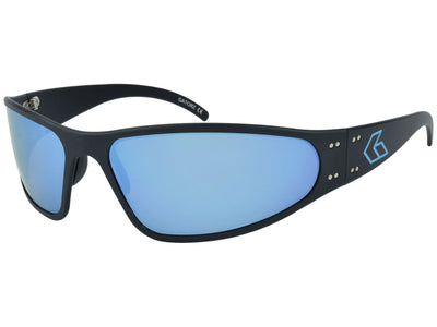 Black w/ Blue Engraved G / Blue Mirror Polarized