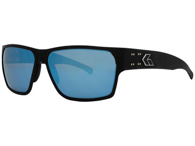 Matte Black / Smoke Polarized w/ Blue Mirror