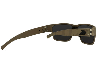 Cerakote Tan Camo Blackout Logo / Smoked Polarized