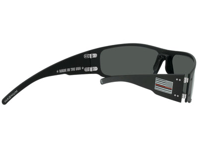 Thin Red Line / Matte Black / Smoked Polarized