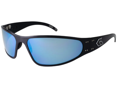 Black / Smoked Polarized w/ Blue Mirror