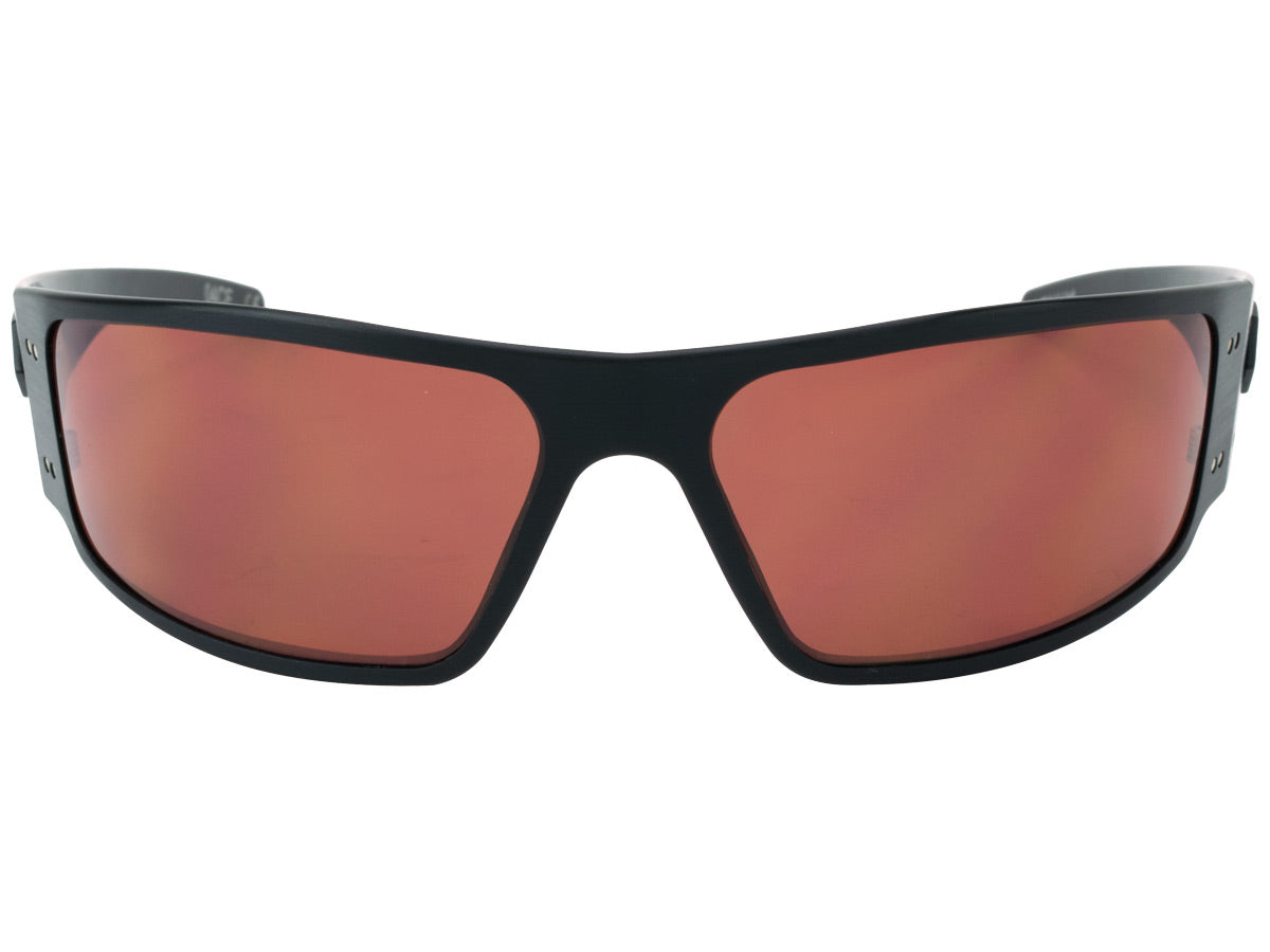 New Gatorz Magnum Tactical Hand Crafted Military Sunglasses Brown w Green Mirror