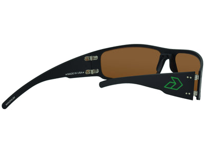 Black w/ Engraved Green G / Green Mirror Polarized