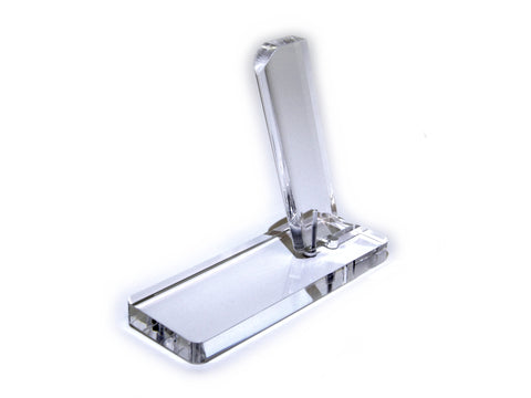 38 Super Single Stack Clear Acrylic Pistol Stand