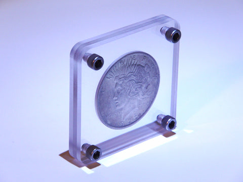 Acrylic Peace or Morgan Silver Dollar Display
