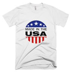 """Made in the USA"" Cotton Short-Sleeve T-Shirt"