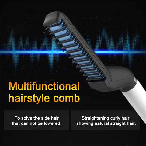 MULTI-FUNCTIONAL HAIR STYLING TOOL FOR MEN, STRAIGHTEN OR CURL!
