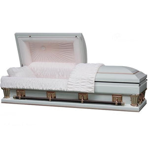"OVERSIZE ANTIQUE WHITE - 28"" - Caskets Warehouse"