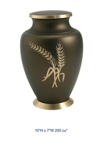 BRASS URN - WHEAT - Caskets Warehouse