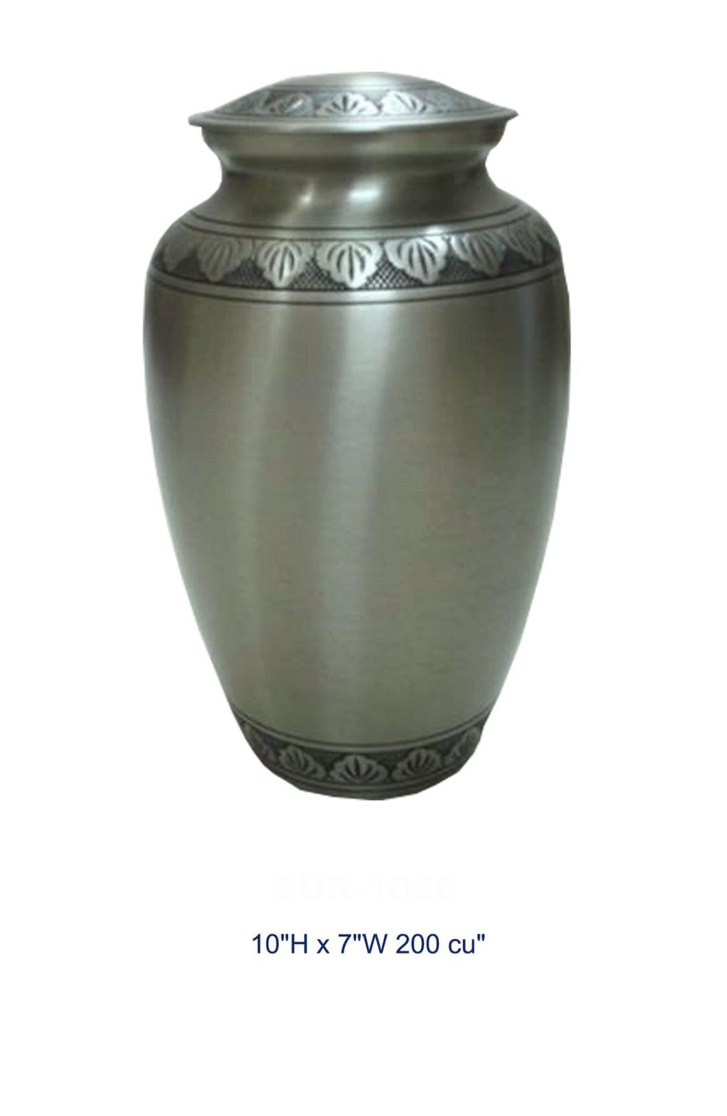 BRASS URN - SILVER LEAF - Caskets Warehouse