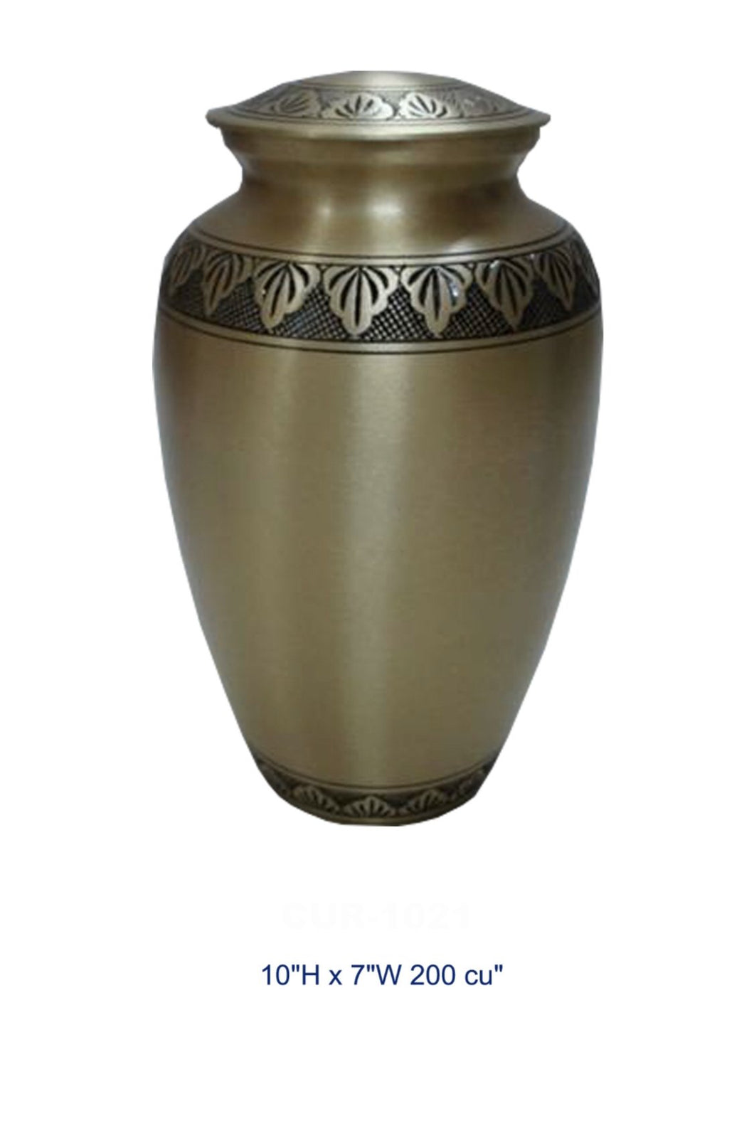 BRASS URN - GOLD LEAF