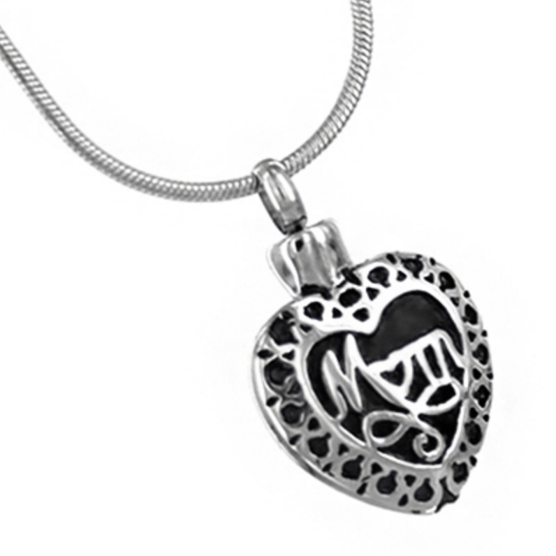 MOM HEART CREMATION JEWELRY PENDANT - Caskets Warehouse