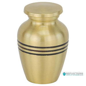 THREE BANDS GOLD KEEPSAKE URN - Caskets Warehouse