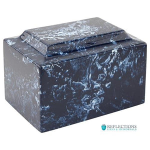NAVY CLASSIC CULTURED MARBLE URN - Caskets Warehouse